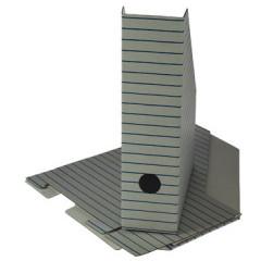 Tijdschriftenhouder karton A4 wit/blauw-rood-groen gestreept (3)