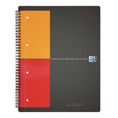 Spiraalboek Oxford International Notebook hardcover A4+ geruit 160blz