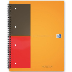 Spiraalboek Oxford International Notebook hardcover A5+ gelijnd 160blz