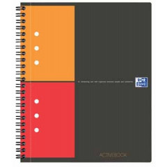Spiraalboek Oxford International Activebook PP A4+ geruit 160blz