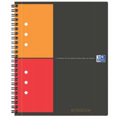 Spiraalboek Oxford International Activebook PP A5+ geruit 160blz