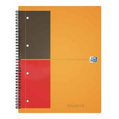 Spiraalboek Oxford International Filingbook hardcover A4+ geruit 200blz