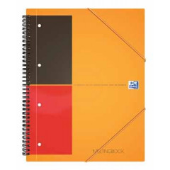 Spiraalboek Oxford International Meetingbook PP A4+ geruit 160blz