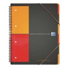 Spiraalboek Oxford International Organiserbook PP A4+ geruit 160blz