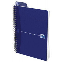Spiraalschrift Oxford Office Essentials karton A5 gelijnd 180blz assorti