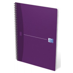 Spiraalschrift Oxford Office Essentials karton A4 geruit 180blz assorti