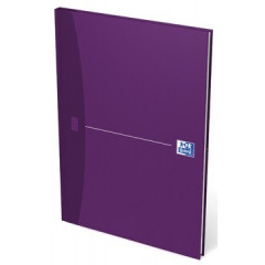 Notitieboek Oxford Office Essentials karton A4 gelijnd 192blz assorti