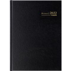 Agenda Brepols Bremax 2 Santex zwart 2020 1 dag/2 pagina's