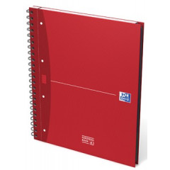 Spiraalschrift Oxford Office Essentials Europeanbook karton A4+ geruit 240blz assorti
