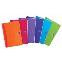 Spiraalschrift Oxford Office My Colours PP A5 geruit 180blz assorti