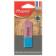 Gom duo Maped groot rood/blauw blister