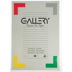 Tekenblok Gallery 29,7x42cm 120gr wit 24 vel