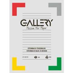 Tekenblok Gallery steinbach 27x36cm 200gr wit 20 vel
