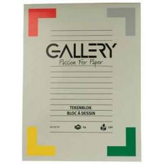 Tekenblok Gallery 24x32cm 120gr wit 24 vel