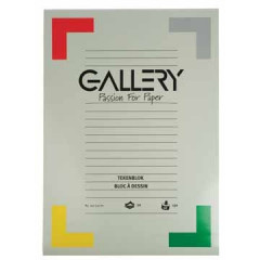 Tekenblok Gallery 42x29,7cm 190gr wit 24 vel