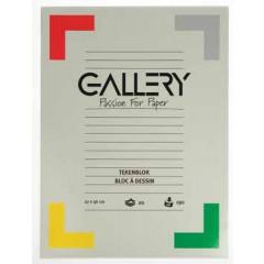 Tekenblok Gallery 27x36cm 190gr wit 24 vel