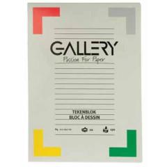 Tekenblok Gallery 21x29,7cm 190gr wit 24 vel