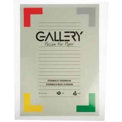 Tekenblok Gallery steinbach 42x29,7cm 200gr wit 20 vel