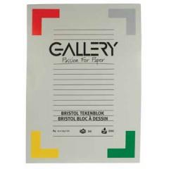 Tekenblok Gallery 21x29,7cm 200gr wit 20 vel