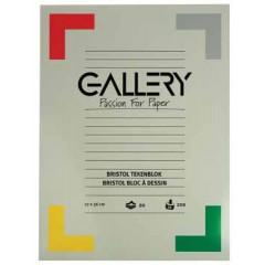 Tekenblok Gallery 27x36cm 200gr wit 20 vel