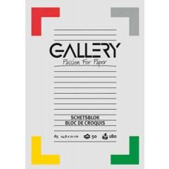 Tekenblok Gallery A5 180gr 50vel wit