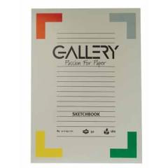 Tekenblok Gallery A4 180gr 50vel wit