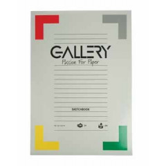 Tekenblok Gallery A3 180gr 50vel wit