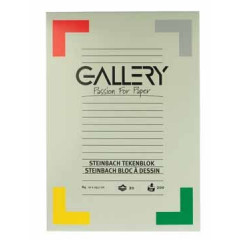 Tekenblok Gallery steinbach 21x29,7cm 200gr wit 20 vel