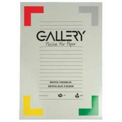 Tekenblok Gallery 29,7x42cm 200gr wit 20 vel