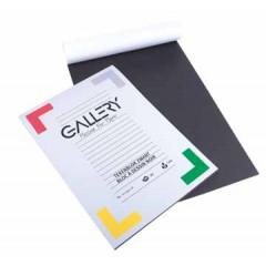 Tekenpapier blok Gallery A4 120gr zwart 20 vel