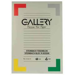 Tekenblok Gallery steinbach 21x29,7cm 250gr wit 20 vel