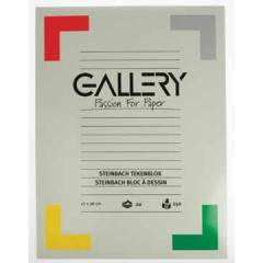 Tekenblok Gallery steinbach 27x36cm 250gr wit 20 vel