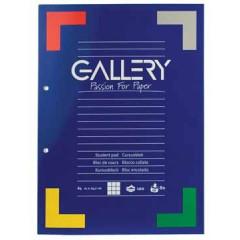 Cursusblok Gallery A4 80gr geruit