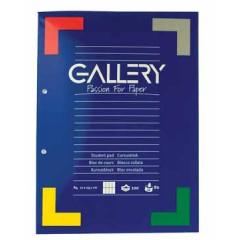 Cursusblok Gallery A4 80gr com. geruit
