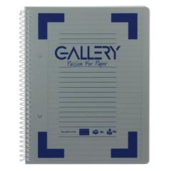 Spiraalschrift Gallery traditional PP A5 gelijnd afscheurbaar 160blz assorti