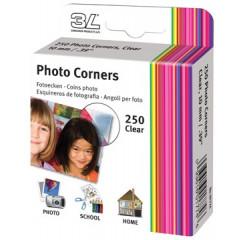 Fotohoek 3L PP transparant zelfklevend 10mm (250)