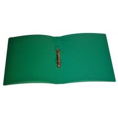 Ringmap Classex PP A4 2 O-ringen 16mm rug 2cm transparant groen