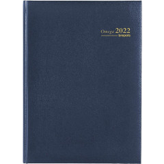 Agenda Brepols Omega Lima 210x290mm blauw 2022 1 week/2 pagina's