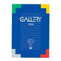 Schrijfblok Gallery gelijmd A4 gelijnd 100 vel 70gr