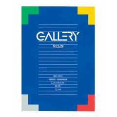 Schrijfblok Gallery gelijmd A4 geruit 100 vel 70gr
