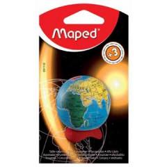 Potloodslijper met opvangbakje Maped globe 1-gaats