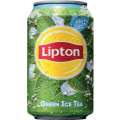 Frisdrank Lipton Ice Tea Green, blik 33cl (24)