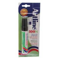 Permanent marker Artline 100 schuin 7,5-12mm zwart blister