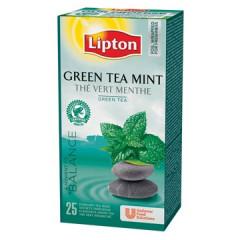 Thee Lipton green tea munt (25)