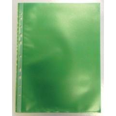 Showtas Bronyl PP A4 11-gaats gekorreld 80µ groen (50)