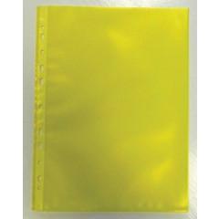 Showtas Bronyl PP A4 11-gaats gekorreld 80µ geel (50)