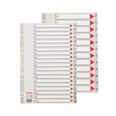 Tabbladen Esselte PP A4 maxi A-Z 11-gaats grijs