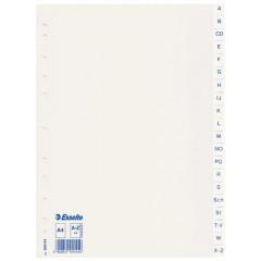 Tabbladen Esselte PP A4 A-Z (Duits) 11-gaats wit