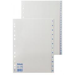 Tabbladen Esselte PP A4 1-12 11-gaats wit