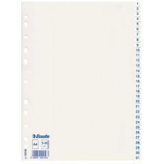 Tabbladen Esselte PP A4 1-31 11-gaats wit